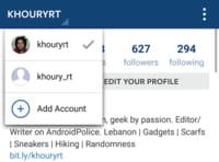 Instagram z obsługą wielu kont