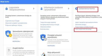 b4401e150e12ff Po chwili zostaniesz przekierowany do strony usuwania Konta. Wybierz opcję  Usuń konto Google i powiązane z nim dane: